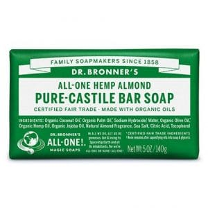 Dr Bronner's - Pure-Castile Bar Soap Almond, 140 gr-0