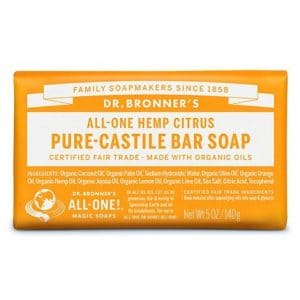 Dr Bronner's - Pure-Castile Bar Soap Citrus, 140 gr-0