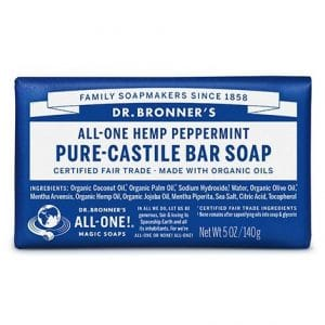 Dr Bronner's - Pure-Castile Bar Soap Peppermint, 140 gr-0