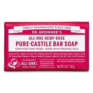 Dr Bronner's - Pure-Castile Bar Soap Rose, 140 gr-0
