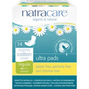 Natracare - Ekologisk ultratunn binda med vingar Regular, 14-pack-0