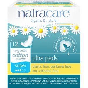 Natracare - Ekologisk ultratunn binda med vingar Super, 12-pack-0