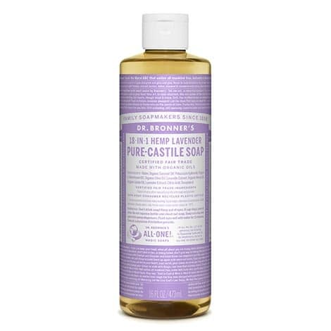 Dr Bronner's - Pure-Castile Liquid Soap Lavender, 475 ml-0