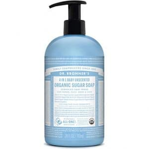 Dr Bronner's - Organic Sugar Soap Baby Unscented, 355 ml-0