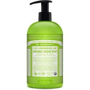 Dr Bronner's - Organic Sugar Soap Lemongrass Lime, 355 ml-0