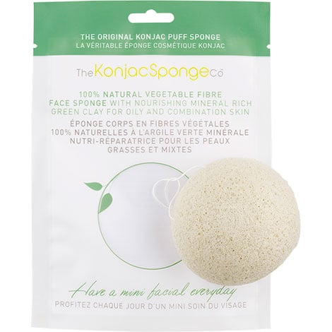 The Konjac Sponge Co - Facial Puff Sponge Green Clay-0