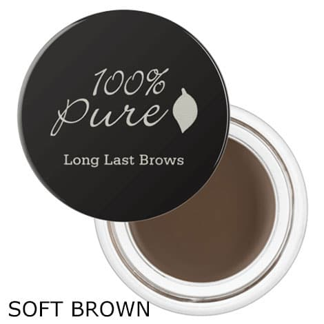 100% Pure - Long Last Brows, 4,5 gr - Soft Brown