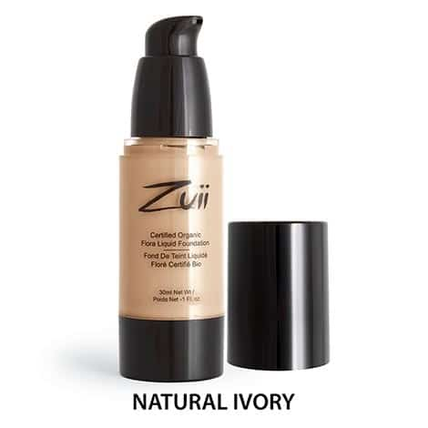 Zuii Organic - Liquid Foundation Natural Ivory, 30 ml