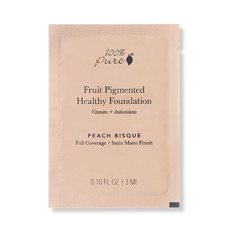 100% Pure - Fruit Pigmented Healthy Foundation TEST 3 ml - Peach Bisque
