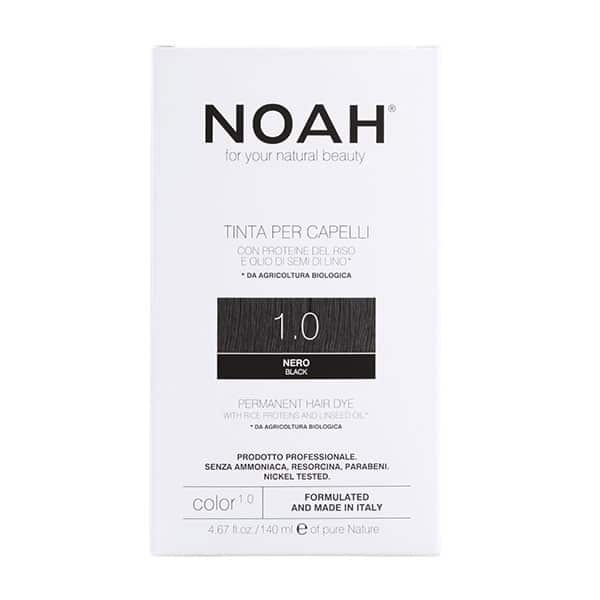 NOAH - Permanent Hair Colour with rice protein & linseed oil, 140 ml - 1.0 Black