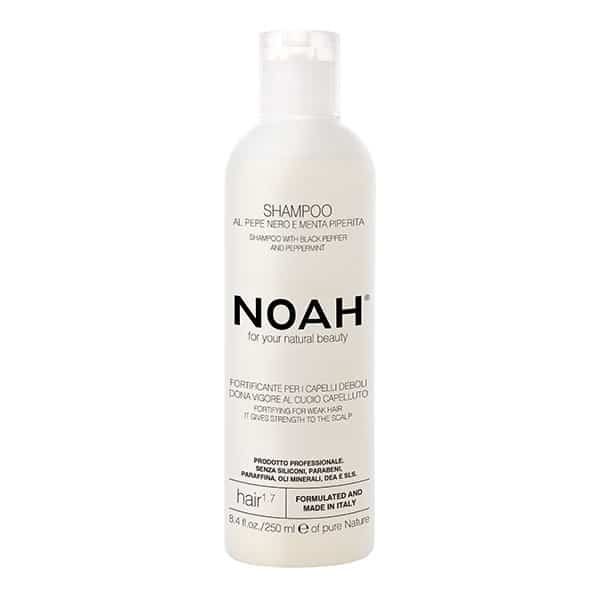 NOAH - 1.7 Fortifying shampoo With Black Pepper and Peppermint, 250 ml