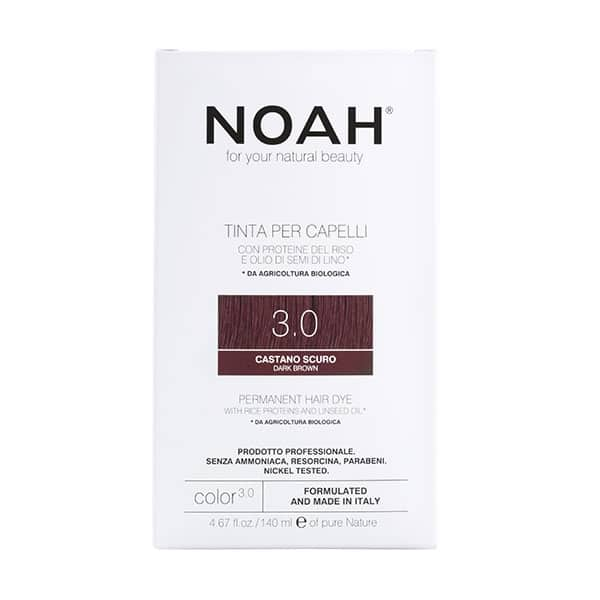 NOAH - Permanent Hair Colour with rice protein & linseed oil, 140 ml - 3.0 Dark Brown