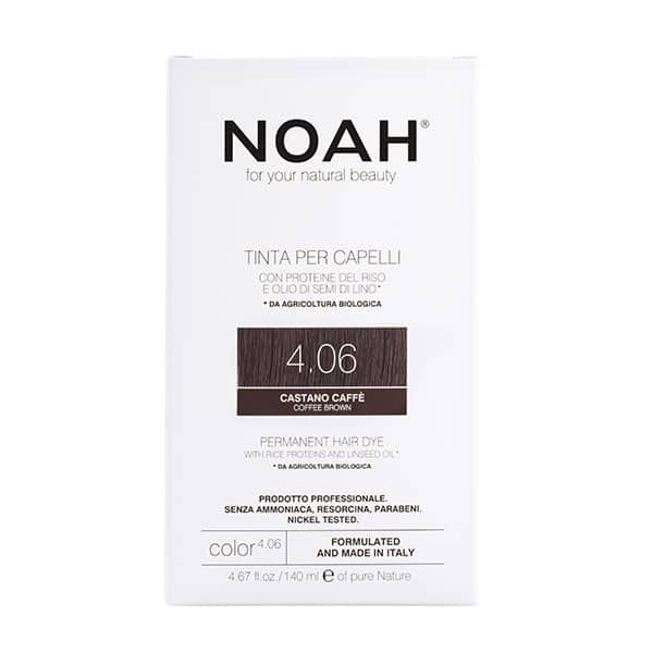 NOAH - Permanent Hair Colour with rice protein & linseed oil, 140 ml - 4.06 Coffee Brown