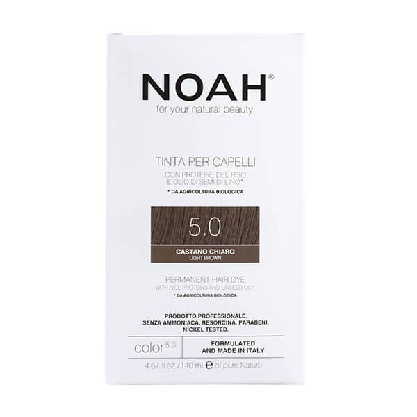 NOAH - Permanent Hair Colour with rice protein & linseed oil, 140 ml - 5.0 Light Brown