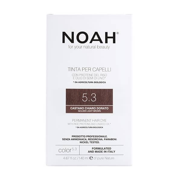 NOAH - Permanent Hair Colour with rice protein & linseed oil, 140 ml - 5.3 Golden Light Brown