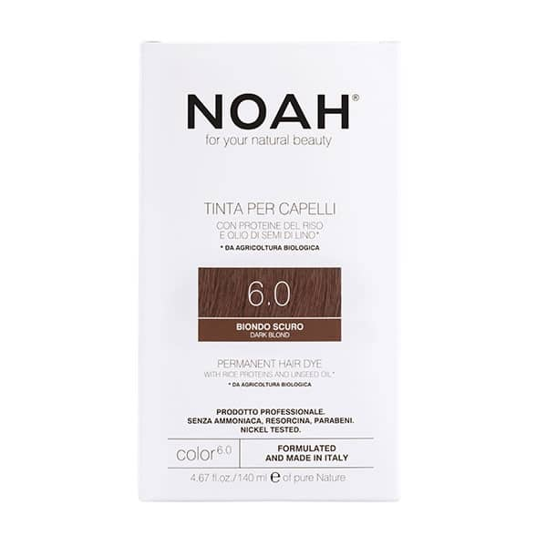 NOAH - Permanent Hair Colour with rice protein & linseed oil, 140 ml - 6.0 Dark Blond
