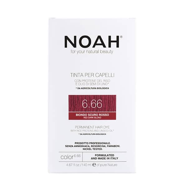 NOAH - Permanent Hair Colour with rice protein & linseed oil, 140 ml - 6.66 Red Dark Blond