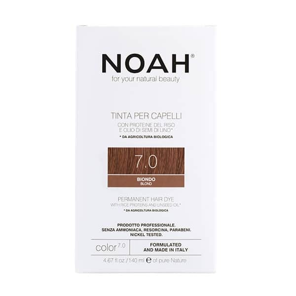 NOAH - Permanent Hair Colour with rice protein & linseed oil, 140 ml - 7.0 Blond