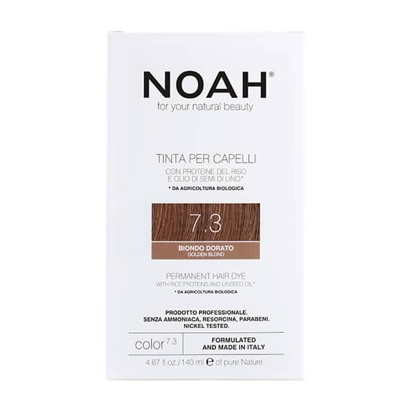 NOAH - Permanent Hair Colour with rice protein & linseed oil, 140 ml - 7.3 Golden Blond