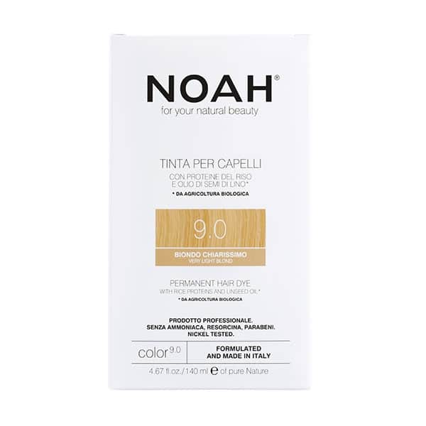 NOAH - Permanent Hair Colour with rice protein & linseed oil, 140 ml - 9.0 Very Light Blond